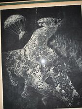 "Holley Coulter Chirot rare Etching Signed ""the Hamalorse"""