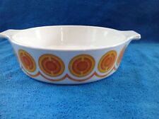 Vintage Retro Pyrosil Orange Casserole Dish, PC1B/1 litre 20cm