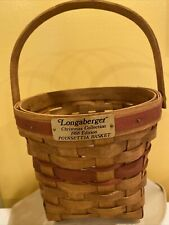 Longaberger 1988 Christmas Collection Poinsettia Basket In Red Never Used Usa