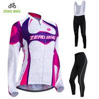 Cycling Kits Women's Bicycle Clothing Bike Cycle Jersey (Bib) Pants Padded Set