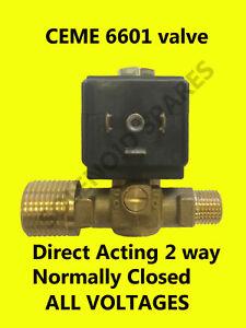 "CEME 6601 solenoid valve 0-4DC 0-6AC 1/2"" to 1/4"" 4mm Orifice"