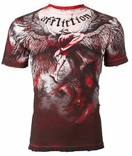 AFFLICTION Mens T-Shirt UPWARD Angel Wings RED Tattoo Motorcycle Biker UFC $63