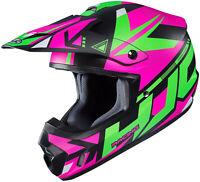 HJC CS-MX 2 Madax Helmet Size LRG Green/Purple
