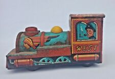 Vintage Old Friction Powered Western Engine Train Modern Toy Litho Tin Toy Japan