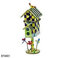 Kelvin Chen Enamel Copper Hand painted mini Birdhouse Open Box - Checker