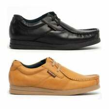 Base London EVENT Mens Genuine Leather Lace Up Smart Moccasin Work School Shoes