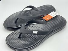 Nike Flip Flops Solay Thong Men's Size 15 Black White 882690 005  New with Tags!