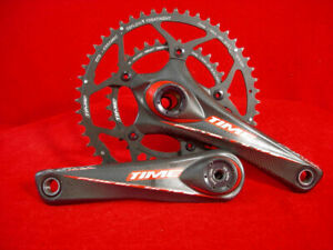 TIME ASX Titan Power Drive Crankset Carbon Fiber 170 mm 50/34 Road  Used