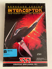 SSI INTERCEPTOR RENEGADE LEGION*SPACE SIMULATION PC GAME***Tested & Works***