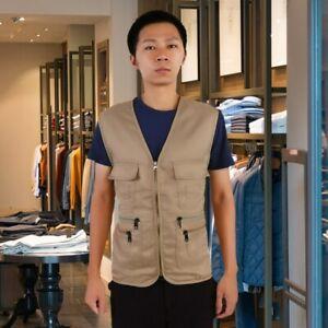 Men Outdoor Fishing Vest Hunting Jacket Comfort Sportswear MultiPockets MenVest
