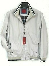 Mens Lightweight Spring Summer Jacket - Navy & Stone, Uno Camicie Great Quality