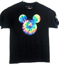 Disney Neff Mens Unisex Large Black T Shirt Tie Dye Micky Mouse L A24