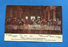 Vintage Post Cards Postcard Great Masterpiece Leonardo da Vinci Last Supper 1971