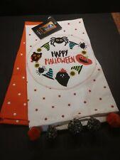 Cynthia Rowley HALLOWEEN Kitchen Dish Towels Set 2 Spider Pumpkin Owl New