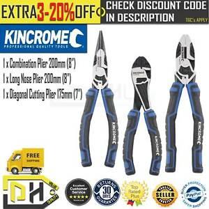 KINCROME PLIER SET - 3 PIECE K4220