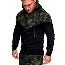 Men's Winter Slim Hoodie Camouflage Hooded Sweatshirt Coat Jacket Outwear Tops