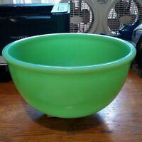 "Vintage MCKEE Jadeite DOME PYREX Large 9"" Mixing Nesting Bowl"