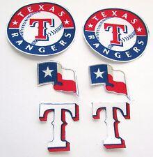 Texas Rangers 6 no sew iron on appliques