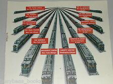 1948 PENNSYLVANIA Railroad advertisement, Diesel Powered passenger train sets