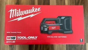 Milwaukee M18 Transfer Pump 2771-20 BRAND NEW in RETAIL PACKAGING