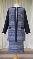 Cotswold Collections Suit Size UK 16 Textured Coat/Jacket & Skirt Ladies