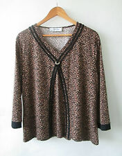 Stitches sz 18 Stretch Leopard Print Top As New