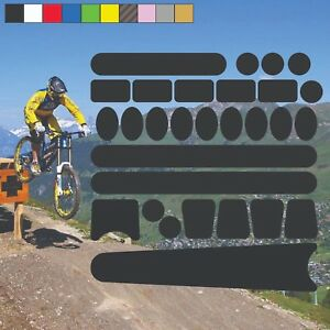 Chainstay and Frame Bicycle Protectors Kit Bike Cycle Decals Stickers (5)