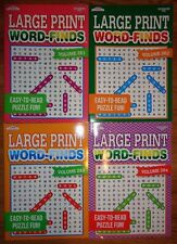 Lot of 4 Large Print Word-Finds Word Search 320 Puzzles Hunt 261 262 263 264