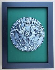 Large Scale Framed MILITARY INTELLIGENCE SECTION 6 - MI6 - Badge Plaque