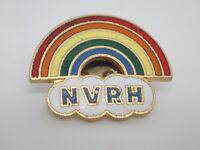 NVRH cloud rainbow gold tone Vintage Lapel Pin