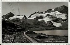 Berninabahn Engadin Graubünden Schweiz ~1940 Lago Bianco Cambrena-Gletscher