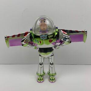 Disney Buzz Lightyear Silver Chrome Action Figure Moveable Helmet FELD 7 inch