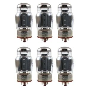 New Plate Current Matched Sextet (6) Tung-Sol Reissue 6550 KT88 Vacuum Tubes