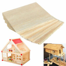 10pcs 100X100X1mm Balsa Wood Sheets Wooden Plate For House Ship Craft Model DIY