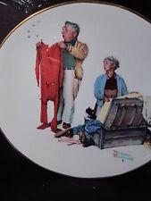 1978 Gorham Rockwell Four Seasons Chilly Reception Ltd Ed Plate Mib