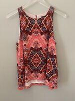 Stitch Fix Market and Spruce Print Aztec Tank Top Cami Shirt S Small