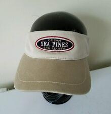 Sea Pines Marsh Ocean Resort Embroidered Golf Visor Hat Cap Ahead Vintage Khaki