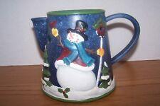 Yankee Candle Snowman Teapot Tart Burner  Snowman Winter Holiday