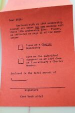 Ussa Member Surfing Contest South Africa Rare 1963 /1964 Membership Renewal
