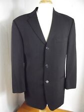 Hugo Boss Mens 38R Black 100% Wool 3 Button Sport Coat Suit Jacket Blazer  38 R