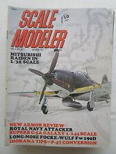 SCALE MODELER 10/71 MACK TRUCKS RAIDEN SKYHAWK ATTACKER FW-190D C-5 GALAXY P-47D