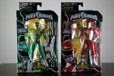 """LOT 2 RED & GREEN RANGER Legacy 6.5"""" Power Rangers MMPR Collection Figure Wave 1"""