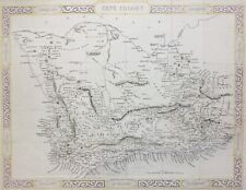 South Africa Cape Colony 1855, by Rapkin antique map