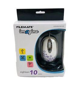 Wintec FileMate Imagine Series M1820 Mini USB Mouse ~ New In Box Purple Flowers