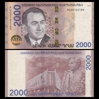 Armenia 2000 (2,000) Dram, 2018, P-NEW, UNC
