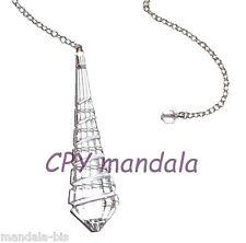 Pendule Goutte Spirale Cristal de Swarovski (radiesthesie, Voyance, recherche)