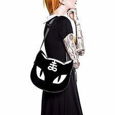 Killstar Black Cat Satchel Gothic Lolita Handbag Messenger Crossbody Bag 30cm