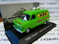 PIT31D 1/43 IXO Altaya Véhicules ITALIE FORD Transit CIRQUE darix Togni 1969