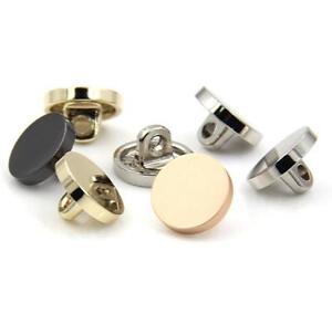 7PCS Quality Metal Shank Buttons Craft DIY Gold Black Silver 10 15 20 25 28 MM