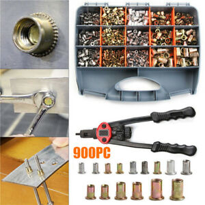 900Pcs Nutsert Tool Kit Rivnut Stainless Steel Rivet Nut Tool Mandrels Set & Box